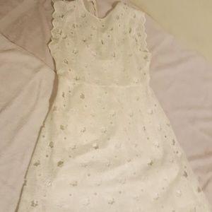 Zara white star design dress